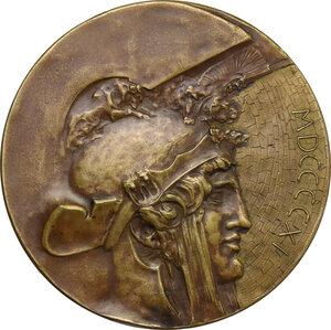 obverse: Vittorio Emanuele III (1869-1943). Medaglia 1911 per l inaugurazione del Vittoriano