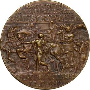 reverse: Vittorio Emanuele III (1869-1943). Medaglia 1911 per l inaugurazione del Vittoriano
