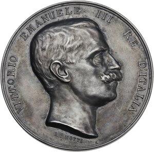 obverse: Vittorio Emanuele III (1869-1943). Medaglia premio Ministero delle Comunicazioni, Amministrazione Poste e Telegrafi