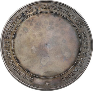 reverse: Vittorio Emanuele III (1869-1943). Medaglia premio Ministero delle Comunicazioni, Amministrazione Poste e Telegrafi