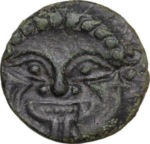 obverse: Himera. AE Cast Hemilitron or Hexonkion, c. 425-409 BC