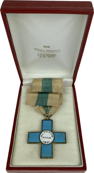 obverse: Carlo Alberto (1831-1849). Croce dell Ordine al Merito Civile di Savoia