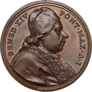 obverse: Benedetto XIV (1740-1758), Prospero Lambertini. Medaglia annuale, A. I