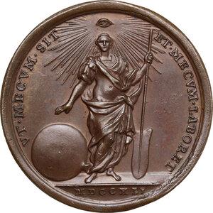 reverse: Benedetto XIV (1740-1758), Prospero Lambertini. Medaglia annuale, A. I
