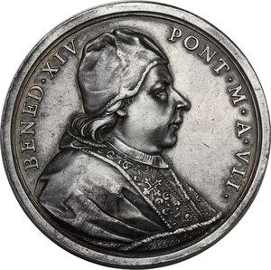 obverse: Benedetto XIV (1740-1758), Prospero Lambertini. Medaglia annuale A. VII