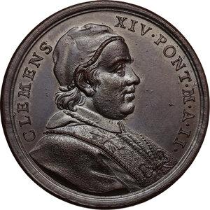 obverse: Clemente XIV (1769-1774), Gian Vincenzo Ganganelli . Medaglia annuale A.II