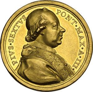 obverse: Pio VI (1775-1799), Giovanni Angelo Braschi. Medaglia annuale A.III