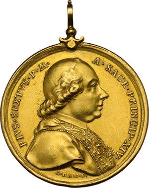 obverse: Pio VI (1775-1799), Giovanni Angelo Braschi. Medaglia annuale A.XIV