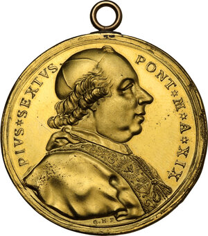 obverse: Pio VI (1775-1799), Giovanni Angelo Braschi. Medaglia annuale A.XIX