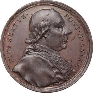 obverse: Pio VI (1775-1799), Giovanni Angelo Braschi. Medaglia annuale, A. XX, 1794