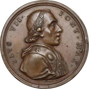 obverse: Pio VII (1800-1823), Barnaba Chiaramonti. Medaglia 1804