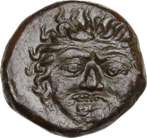 obverse: Kamarina. AE Tetras or Trionkion, c. 420-410 BC