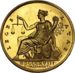 reverse: Pio VII (1800-1823), Barnaba Chiaramonti. Medaglia annuale A.XIX