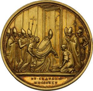 reverse: Leone XII (1823-1829). Medaglia 1825 A. III per la chiusura della porta Santa in San Pietro