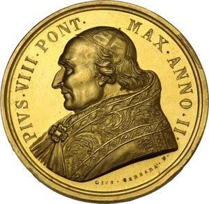 obverse: Pio VIII (1829-1830). Medaglia annuale A.II