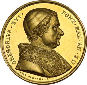 obverse: Roma. Gregorio XVI (1831-1846), Bartolomeo Alberto Cappellari. Medaglia annuale A.XII