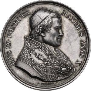 obverse: Pio IX (1846-1878), Giovanni Mastai Ferretti. Medaglia annuale A. X