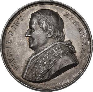 obverse: Pio IX (1846-1878), Giovanni Mastai Ferretti. Medaglia annuale, A. XXII
