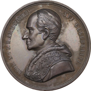 obverse: Leone XIII (1878-1903), Gioacchino Pecci. Medaglia 1888 per il giubileo sacerdotale e il pellegrinaggio polacco a Roma