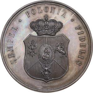 reverse: Leone XIII (1878-1903), Gioacchino Pecci. Medaglia 1888 per il giubileo sacerdotale e il pellegrinaggio polacco a Roma