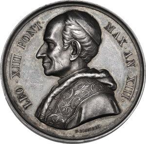obverse: Leone XIII (1878-1903), Gioacchino Pecci. Medaglia annuale A. XIII