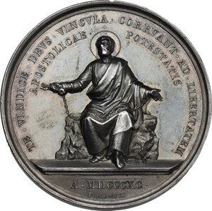 reverse: Leone XIII (1878-1903), Gioacchino Pecci. Medaglia annuale A. XIII