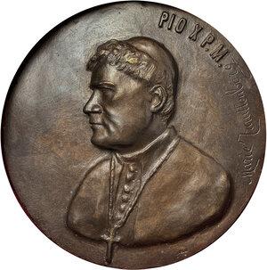 obverse: Pio X (1903-1914), Giuseppe Melchiorre Sarto. Grande placca a sbalzo