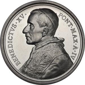 obverse: Benedetto XV (1914-1922), Giacomo Della Chiesa . Medaglia annuale A. IV