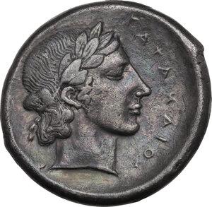 reverse: Katane. AR Tetradrachm, c. 435-412 BC