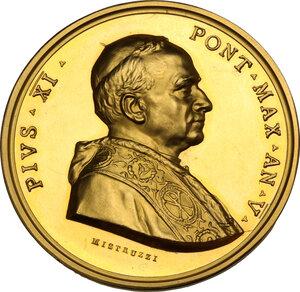 obverse: Pio XI (1922-1939), Achille Ratti. Medaglia annuale A.V