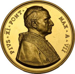 obverse: Pio XI (1922-1939), Achille Ratti. Medaglia annuale A. VII