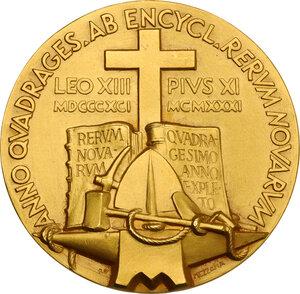 reverse: Pio XI (1922-1938), Achille Ratti. Medaglia straordinaria 1931 A. X
