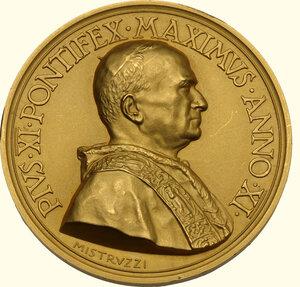 obverse: Pio XI (1922-1939), Achille Ratti. Medaglia annuale A. XI