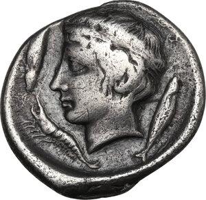 reverse: Katane. AR Drachm, c. 405-404 BC