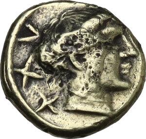 obverse: Etruria, Populonia. Pale AV 25-Asses, c. 300-250 BC