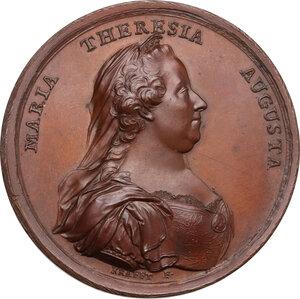 obverse: Maria Teresa d Asburgo (1740-1780), arciduchessa d Austria. Medaglia 1770 per la promulgazione del nuovo regolamento Doganale a Mantova