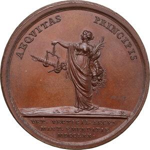 reverse: Maria Teresa d Asburgo (1740-1780), arciduchessa d Austria. Medaglia 1770 per la promulgazione del nuovo regolamento Doganale a Mantova