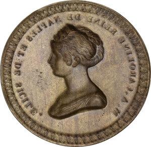 reverse: Maria Assunta Carolina Regina di Napoli e di Sicilia (1768-1814). Medaglia uniface in lamina, realizzata nel 1808 come probabile prova di medaglia eseguita in Francia