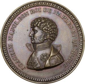 obverse: Gioacchino Murat (1805-1815). Medaglia uniface in lamina, realizzata nel 1808 come probabile prova di medaglia eseguita in Francia