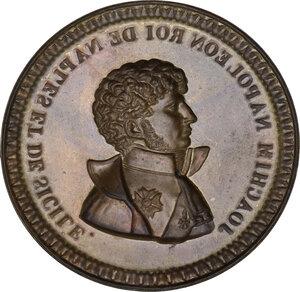 reverse: Gioacchino Murat (1805-1815). Medaglia uniface in lamina, realizzata nel 1808 come probabile prova di medaglia eseguita in Francia