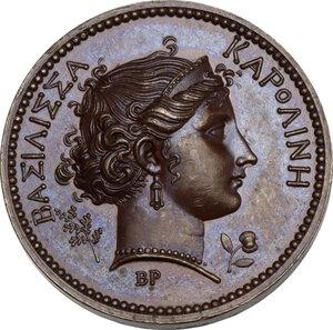 obverse: Carolina Annunziata Bonaparte (1782-1839), moglie di Gioacchino Murat. Medaglia 1808, Parigi