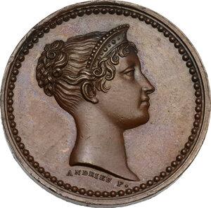 obverse: Maria Luigia d Austria (1815-1847), moglie di Napoleone. Medaglia 1813, per la visita alla zecca di Parigi