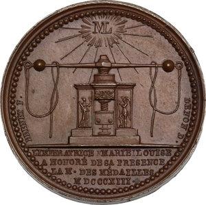 reverse: Maria Luigia d Austria (1815-1847), moglie di Napoleone. Medaglia 1813, per la visita alla zecca di Parigi