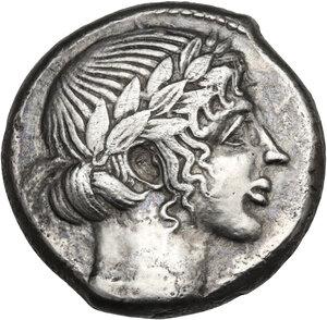 obverse: Leontini. AR Tetradrachm, c. 455-430 BC