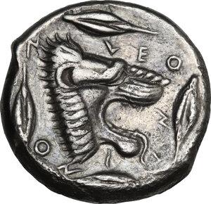 reverse: Leontini. AR Tetradrachm, c. 455-430 BC