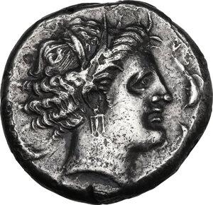reverse: Lilybaeum (as Cape of Melqart). AR Tetradrachm, c. 360-330 BC