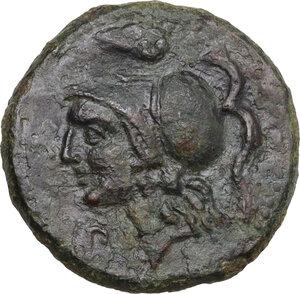 obverse: Morgantina. The Hispani. AE 20 mm, c. mid-late 2nd century BC
