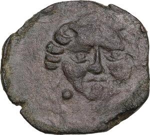 obverse: Motya. AE Tetras, c. 415/10-397 BC