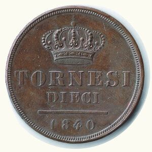NAPOLI  Ferdinando II - 10 Tornesi 1840