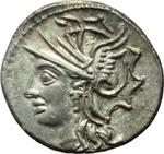 obverse:  Lucius Appuleius Saturninus. Denario, 104 a.C.